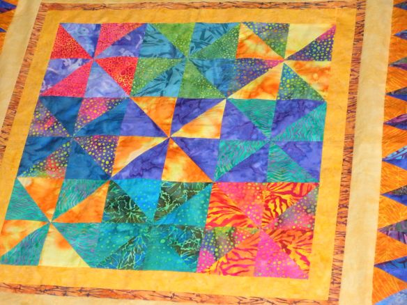 beautiful batik quilt, not mine