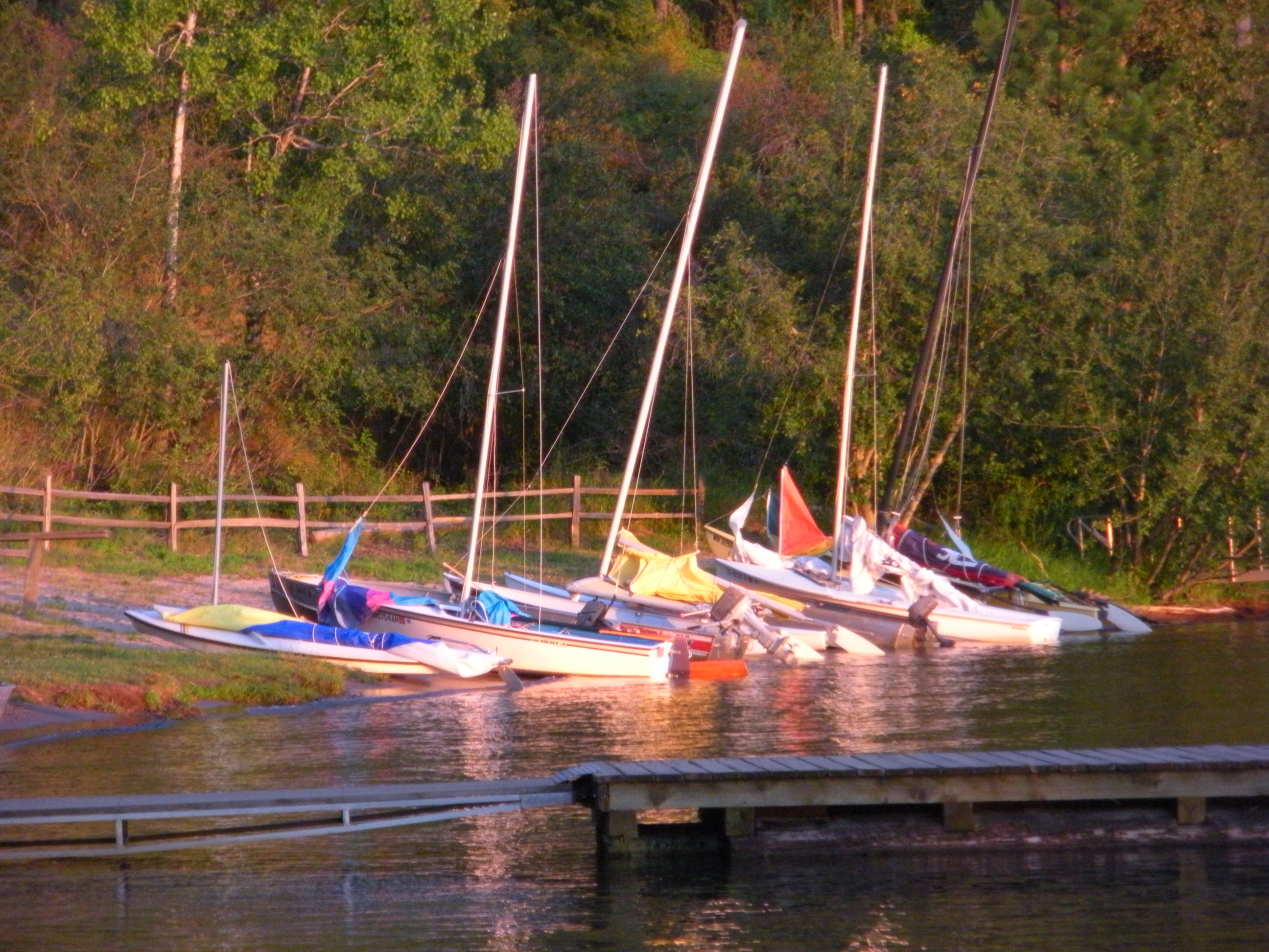 Sailboats at Camp Easton