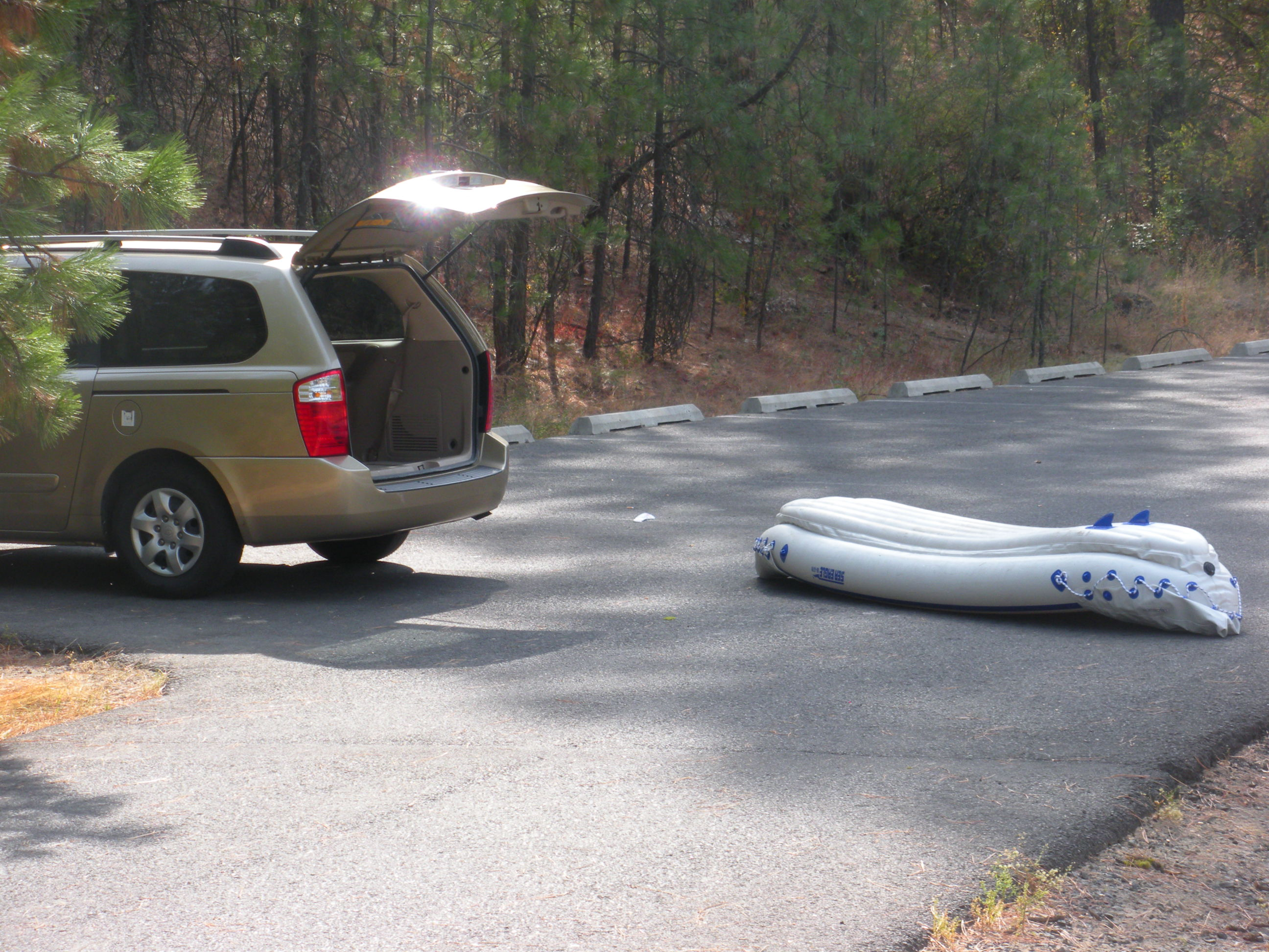 draining the kayak and packing up