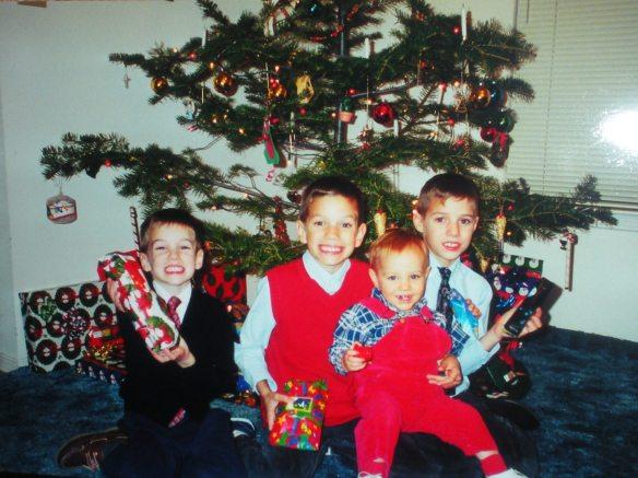Christmas 2000, my boys