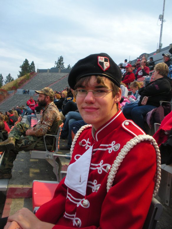 H-J, the drum major and high school junior