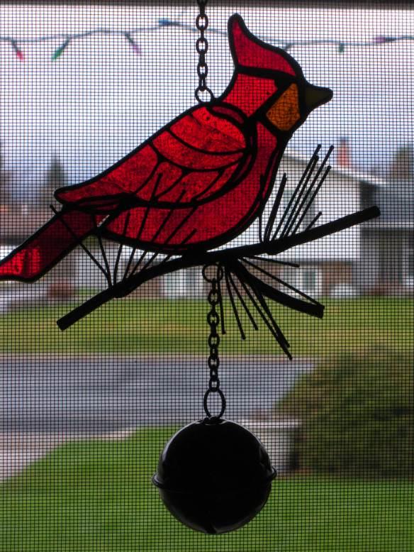 DSCN8512  cardinal in window