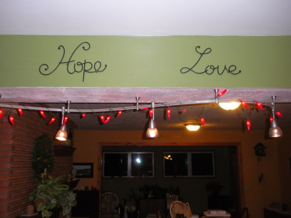 My chili pepper lights are from the Southwest -- we lived in Texas and my grandmother lived in Santa Fe.