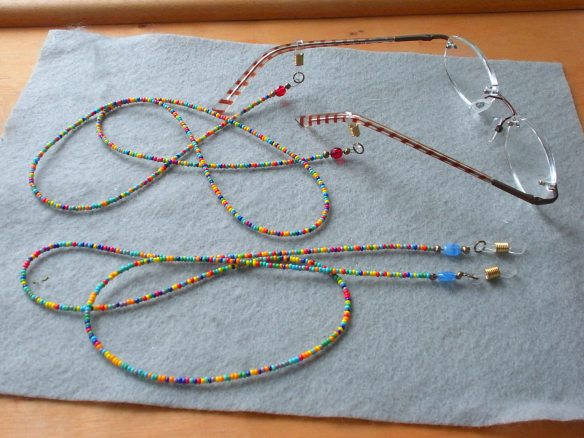 Beaded Eyeglass leashes, multi-colored