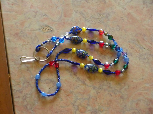~SOLD~  Lanyard by special order, inspired by stained glass