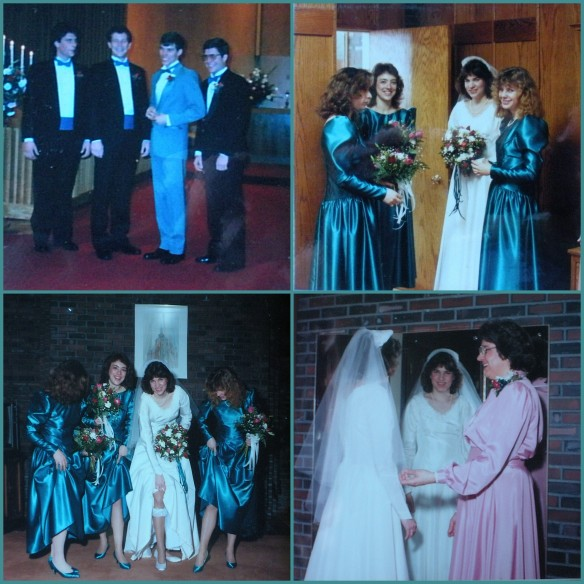 wedding collage, attendants
