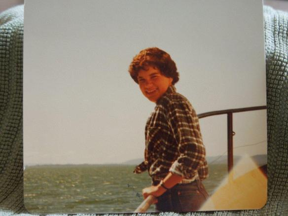 Kare at age 15, on open water, and trying to not be seasick