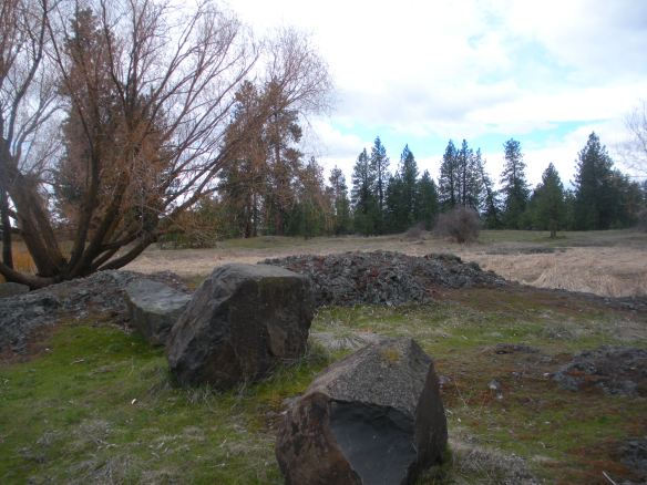 Boulders and berms help to keep motor vehicles out of the park.