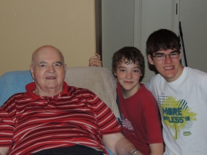 Grandpa with SnakeMaster and H-J