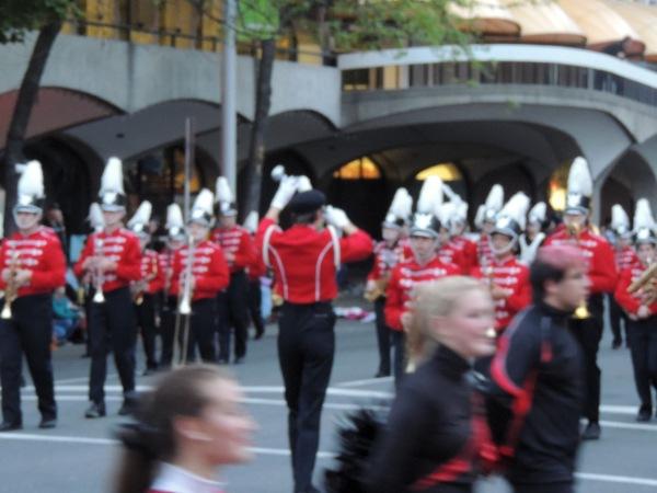2013 May Torchlight Parade 084  leading  backwards