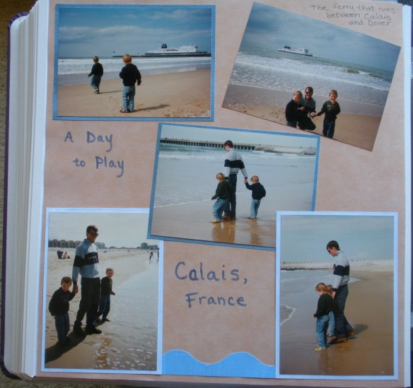 A day to play on the beach in Calais (one of the few things our older boys remember from the trip to London in June of 1996)