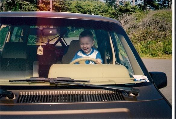 Behind the wheel (MusicMan at 14mo)