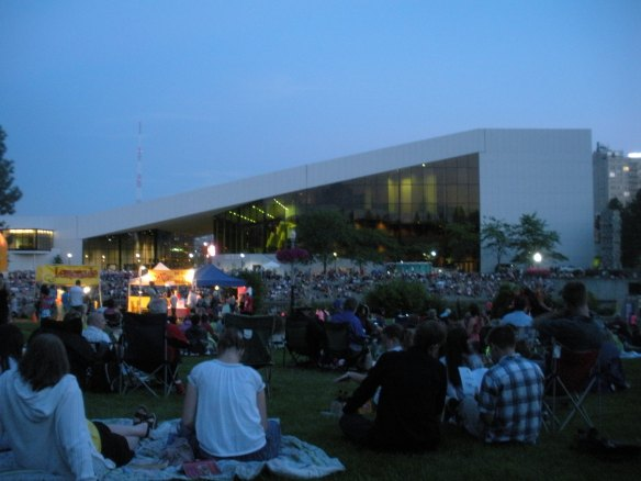 Nighttime concerts in the park  (this one was the Royal Fireworks Concert on July 28th)