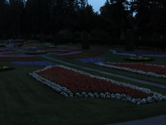 Late evening Light at the formal gardens
