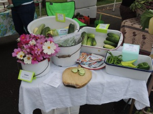 From this vendor we purchased enough rhubarb to make a pie. Mmmmm.... rhubarb pie!