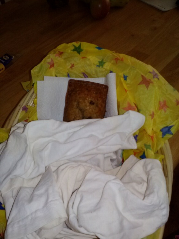 Zucchini Bread in the baby basket