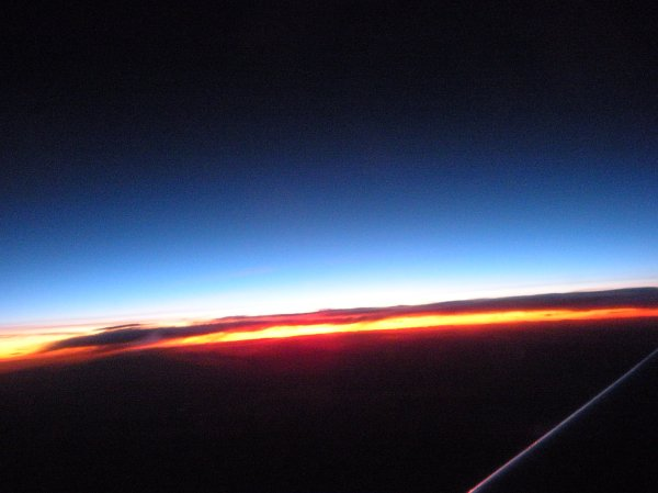 DSCN0288  airplane sunset