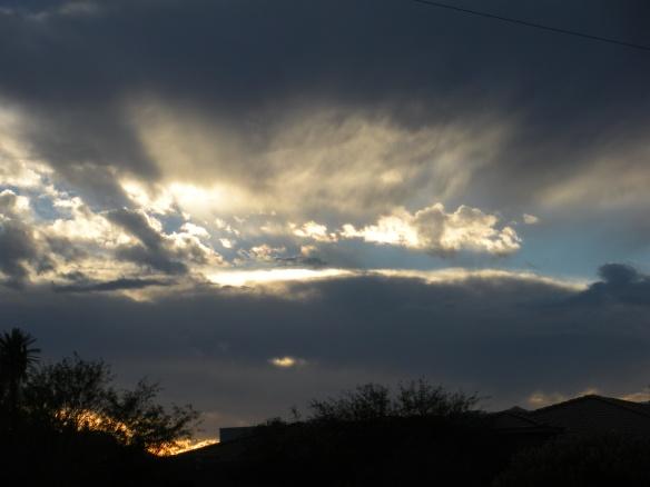 Sunday evening sky