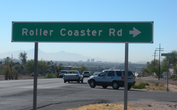 I drove this road each morning: speed limit 25mph for good reason! It is residential, with twists and turns much like a roller coaster after the large initial drop.