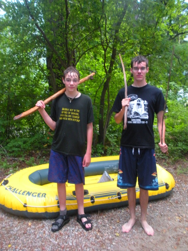 DSCN0916  boys after battling the storm