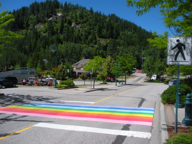 Who couldn't love a town with a crosswalk like this?