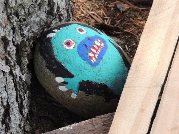 Rock painted by SnakeMaster