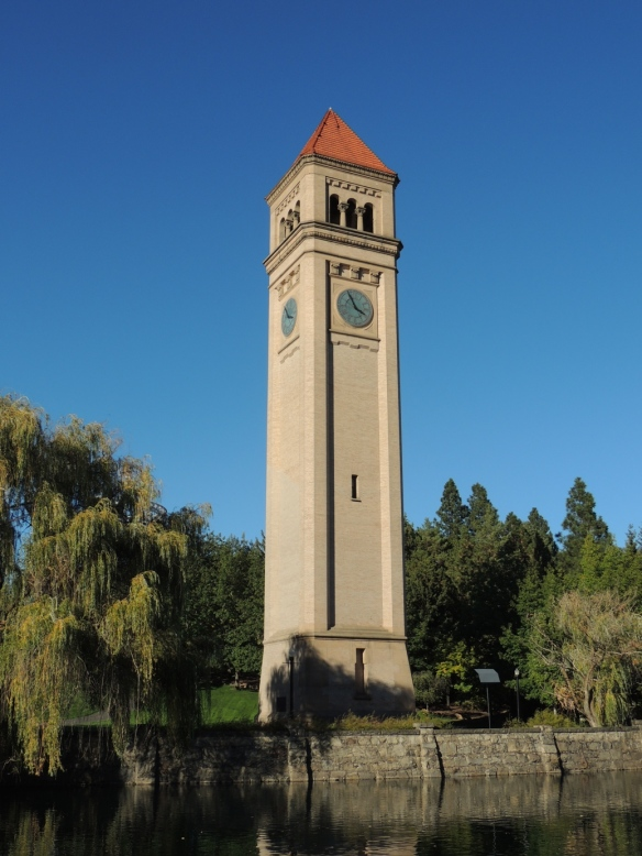 Riverfront Park, clock tower