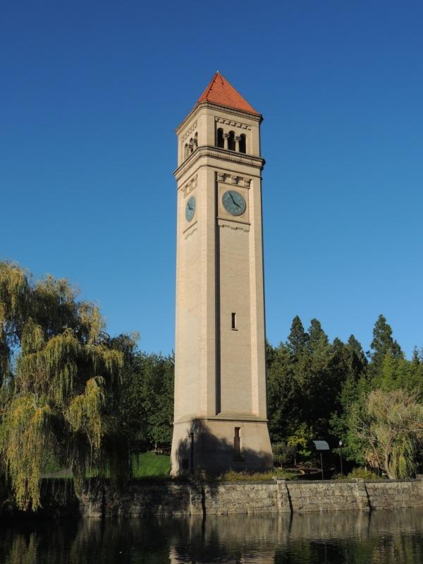 Riverfront Park, clock tower