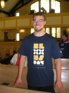 EB managed to run Bloomsday and still get to the 10:30am worship service on time, wearing his newly earned t-shirt.