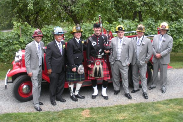 The Firemen, including the FOB and Groom