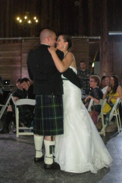 The  Newlyweds' first dance