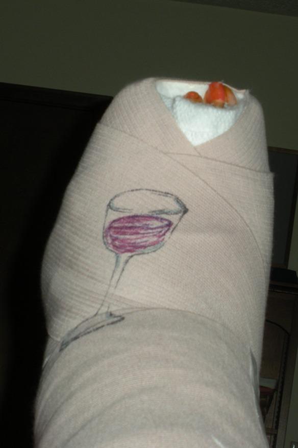 DSCN2305  Top of cast, wine glass