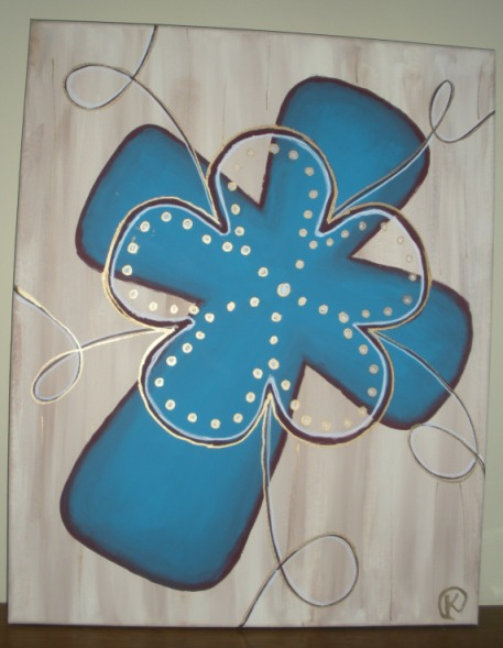 Cross painting, cropped