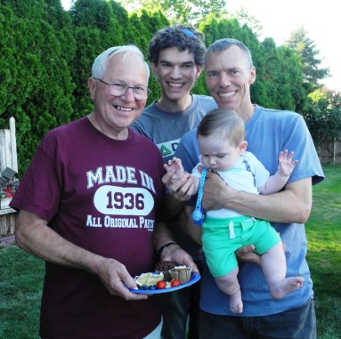 Four generations of handsome guys