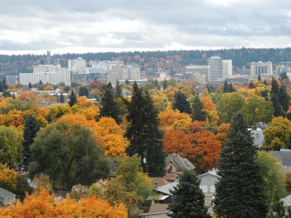 DSCN3455 Spokane vista in autumn, north hill looking toward downtown