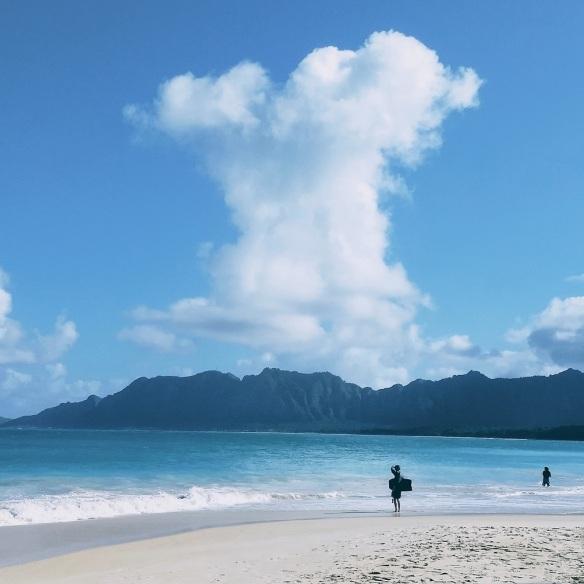 Bellows Beach boogie board, WEBSIZED