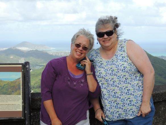 Karen and Diana, Pali Overlook, WEBSIZED
